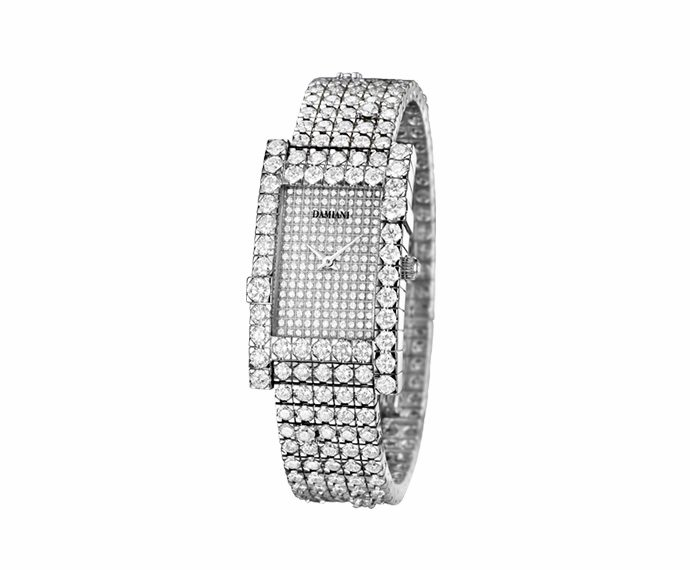 Damiani - White gold with full pavé of diamonds watch