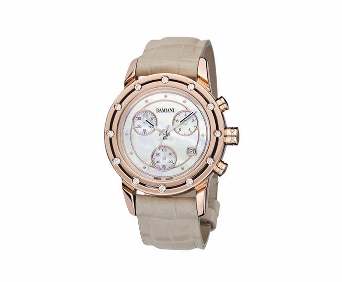 DAMIANI - Pink gold with diamonds chronograph