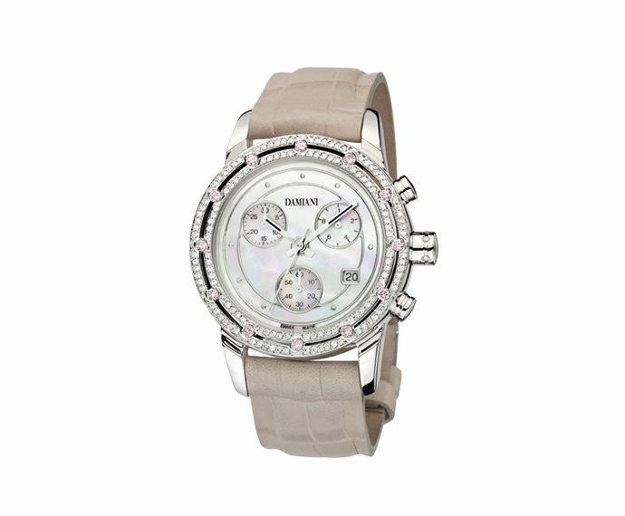 Damiani - White gold with diamonds chronograph