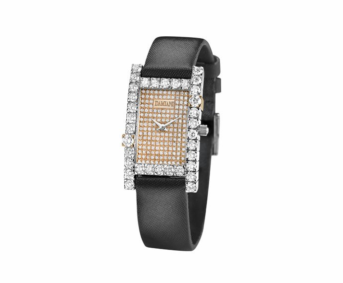 Damiani - White and pink gold with diamonds watch