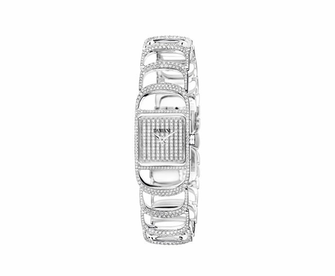 Damiani - White gold with diamonds watch