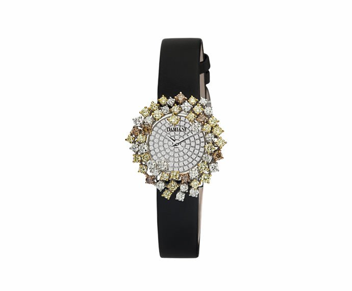Damiani - White gold with white diamonds and fancy watch