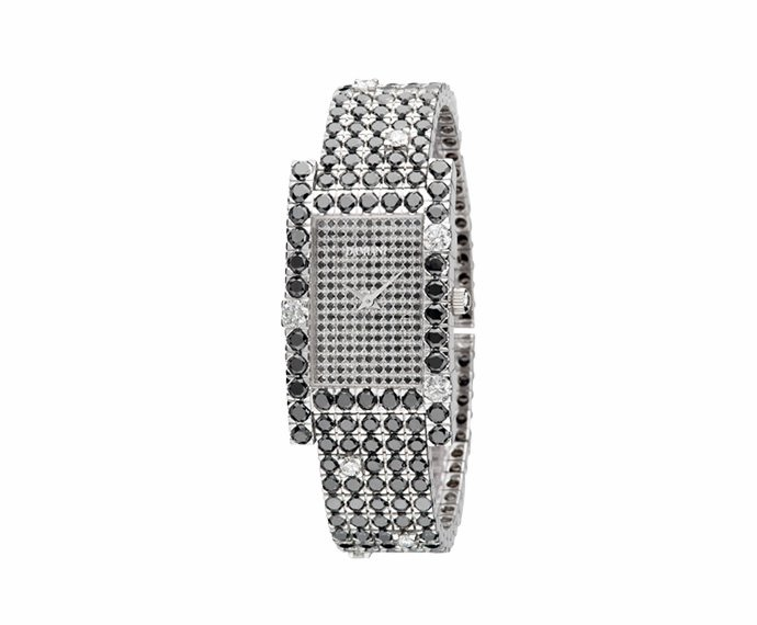 Damiani - White gold with black diamonds watch