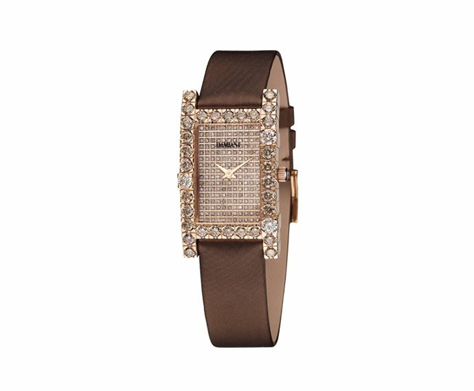 DAMIANI - Pink gold with brown diamonds watch