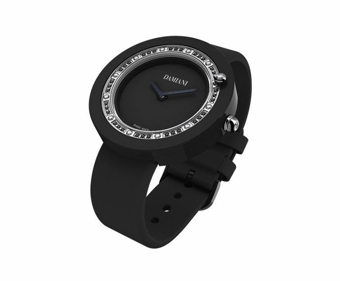 DAMIANI - Black ceramic and diamonds watch