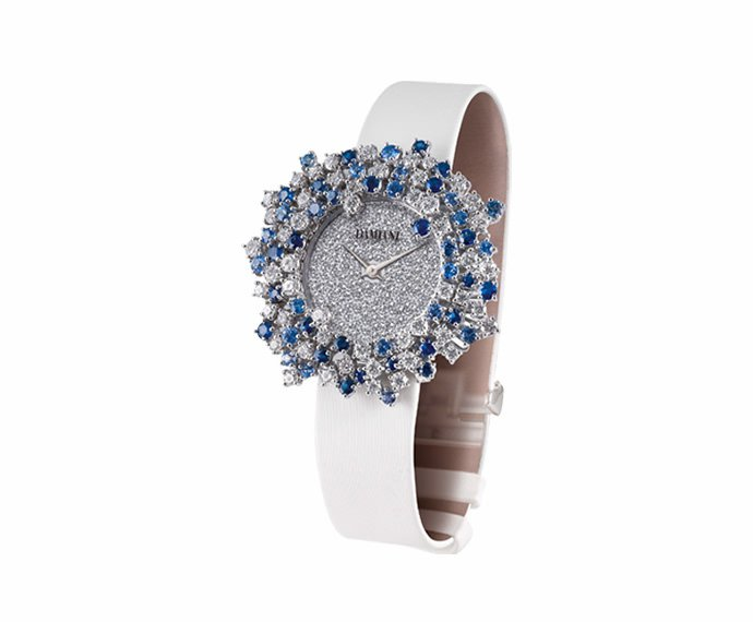Damiani - White gold with diamonds and sapphires watch