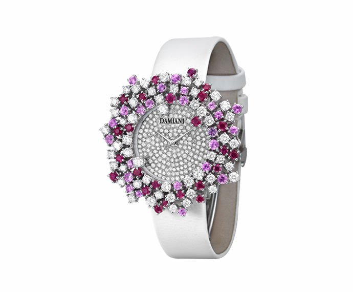 Damiani - White gold with diamonds and pink sapphires watch