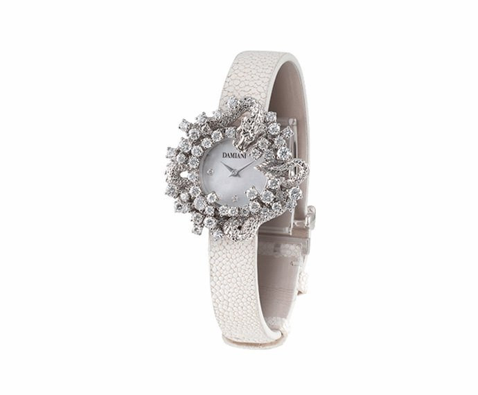 Damiani - Mimosa drago in white gold with diamonds