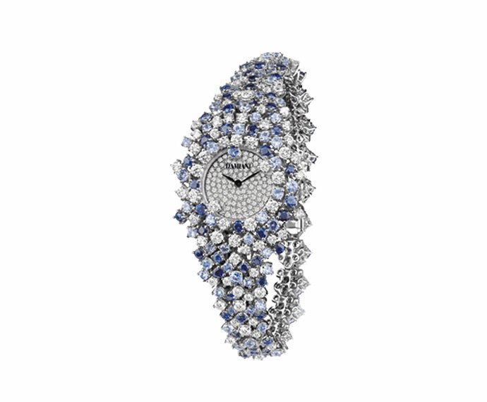 DAMIANI - Watch in white gold with diamonds and sapphires bracelet