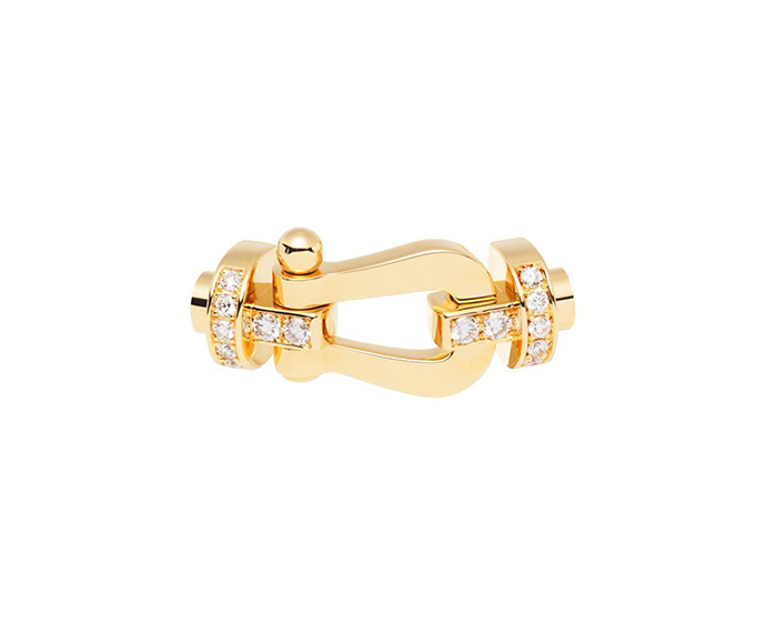 FRED PARIS - Moschettone Force 10 in oro giallo con diamanti