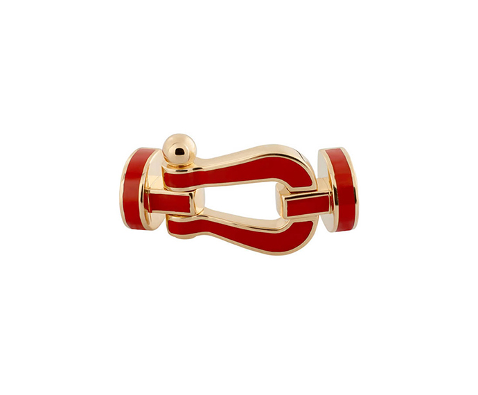 FRED PARIS - Red ceramic and yellow gold Force 10 buckle