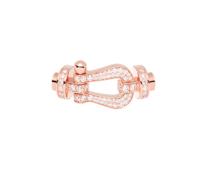 FRED PARIS - Pink gold and diamond pavè Force 10 buckle