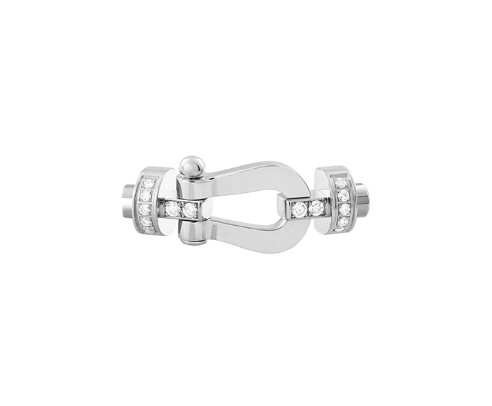 FRED PARIS - White gold and diamond Force 10 buckle