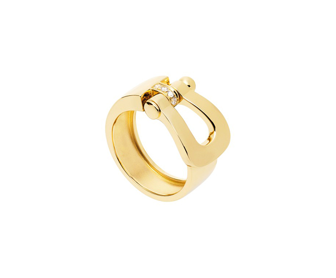 FRED PARIS - Anello Force 10 in oro giallo e diamanti