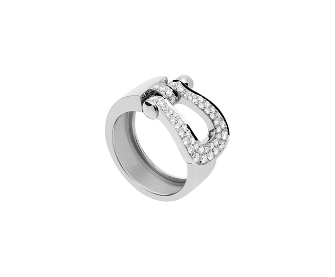 FRED PARIS - Full pavè diamond white gold ring