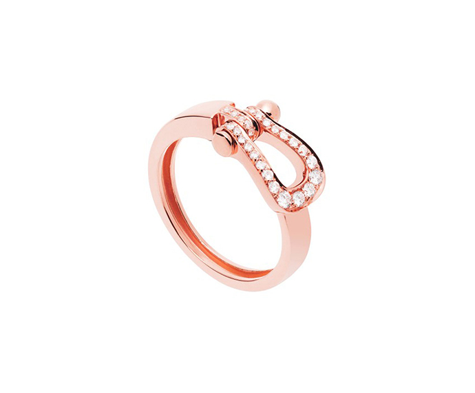 FRED PARIS - Full pavè diamond pink gold ring