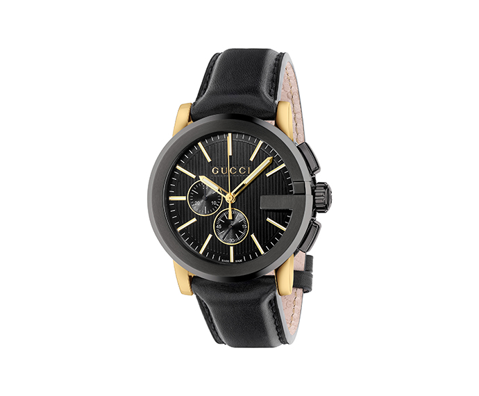 GUCCI - G-Chrono 44 mm Black and light yellow PVD