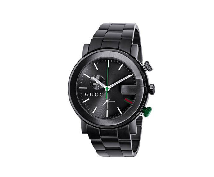 GUCCI - Black with black chronograph in steel G-Chrono