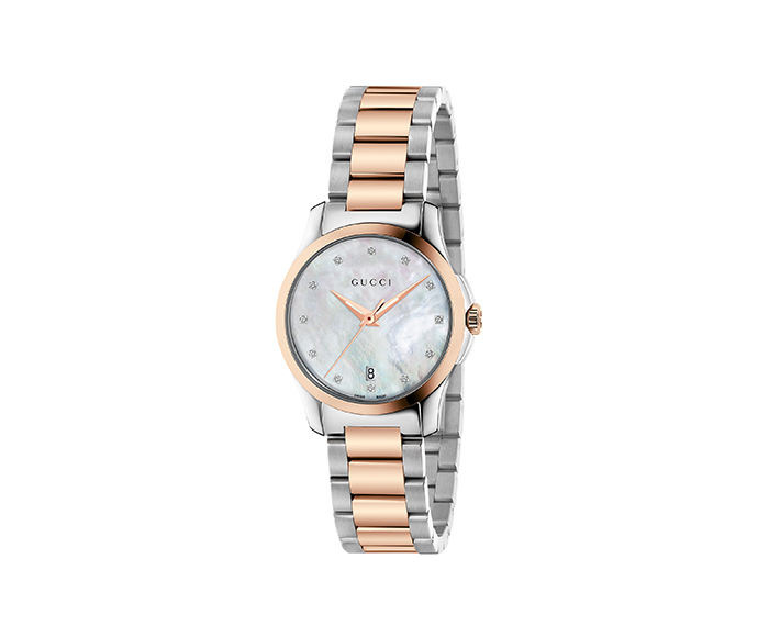 Gucci - G-Timeless 27 mm Steel and pink gold PVD