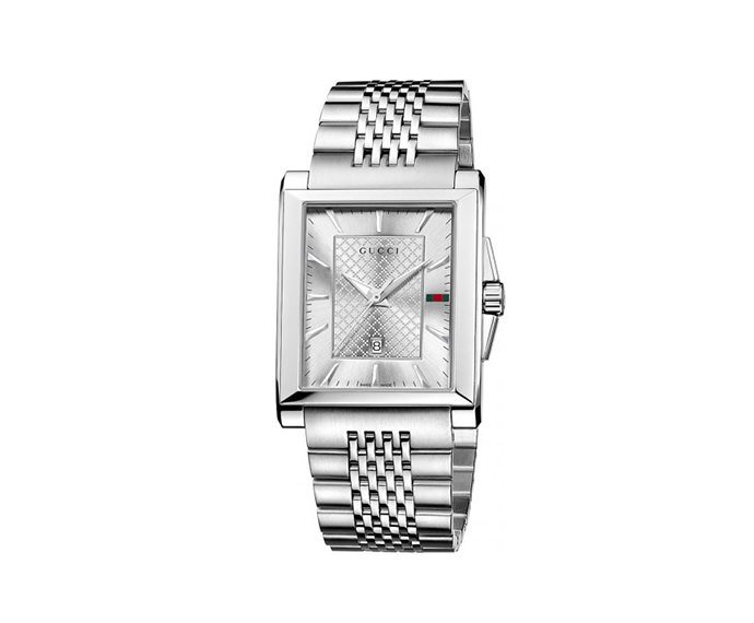 GUCCI - Medium edition with silver dial G-Timeless