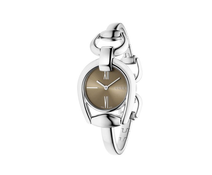 GUCCI - Small Horsebit in steel, bracelet with jewelry clasp