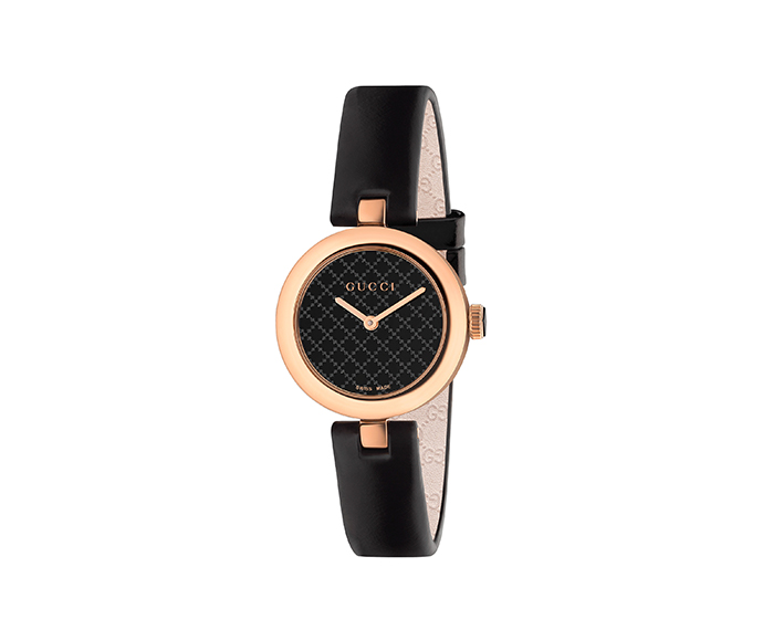 GUCCI - Diamantissima 27 mm Rose gold and black PVD