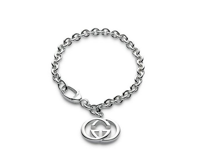 GUCCI - Bracelet in silver 925 with interlaced double G pendant