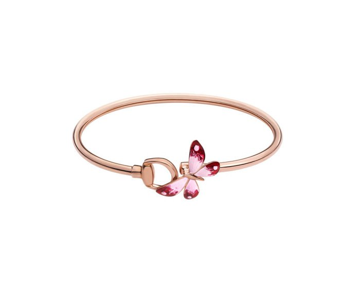 Gucci - Bracelet in pink gold 18 K, enamel and ruby