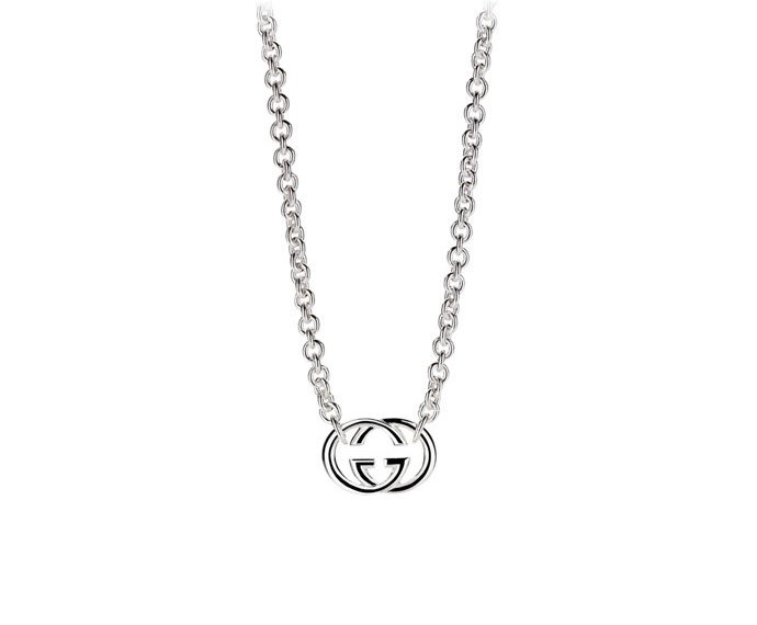 GUCCI - Necklace in silver 925 with interlaced double G pendant