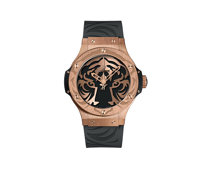HUBLOT - Black Jaguar White Tiger Foundation Gold 44mm