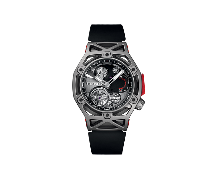 HUBLOT - Techframe Ferrari Tourbillon Chronograph Titanium 45 mm