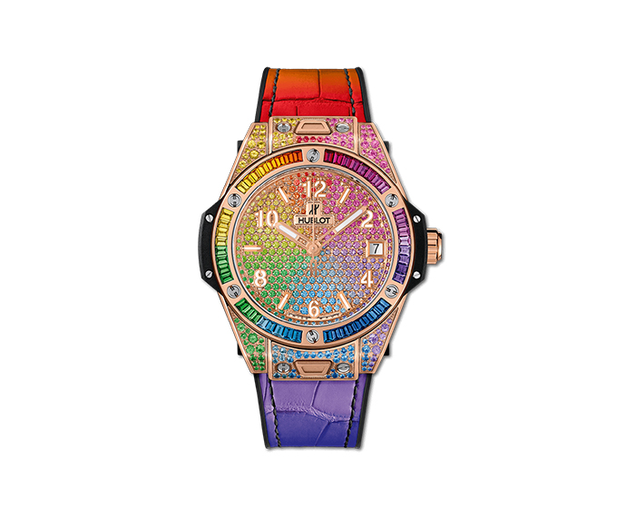 HUBLOT - Big Bang One Click Rainbow King Gold