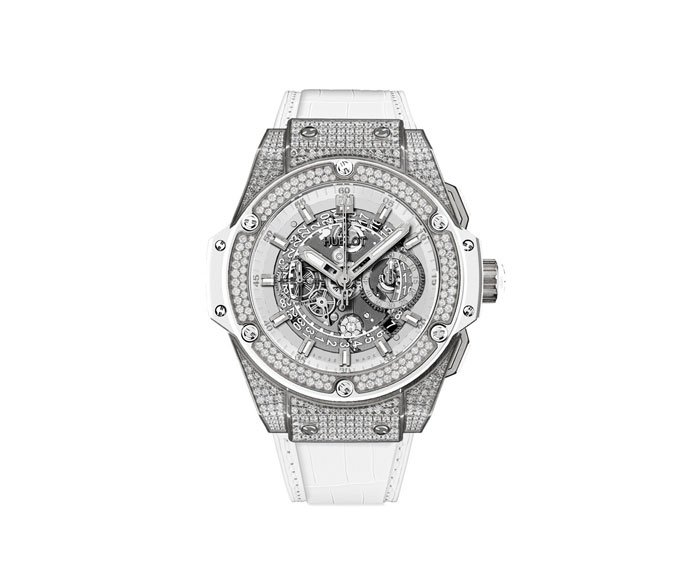 Hublot - Unico White Pavé 48mm
