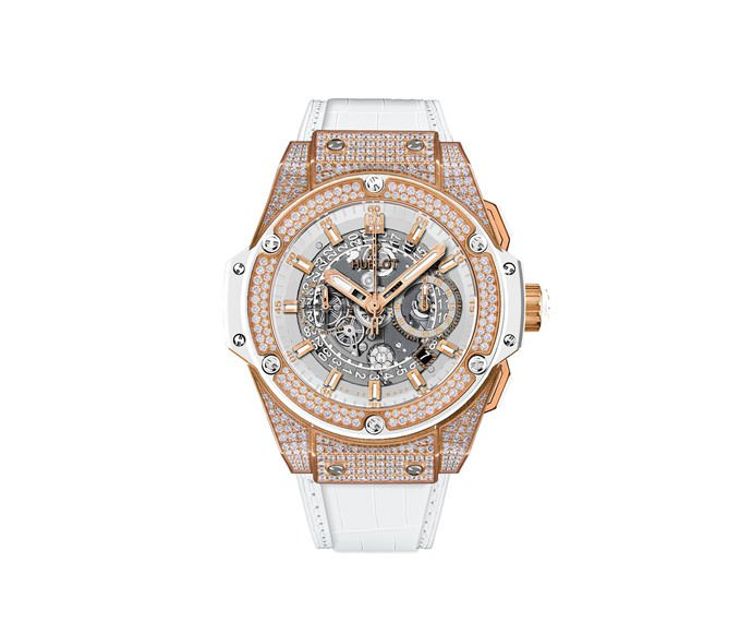 HUBLOT - Unico King Gold White Pavé 48mm
