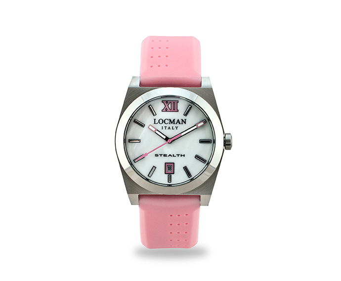 LOCMAN - Stealth Solo Tempo, Quartz, Steel and Titanium case, Pink