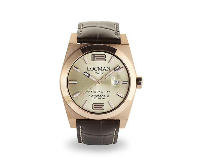 LOCMAN - Automatic Stealth Solo Tempo, Steel and Titanium case, Rose Gold