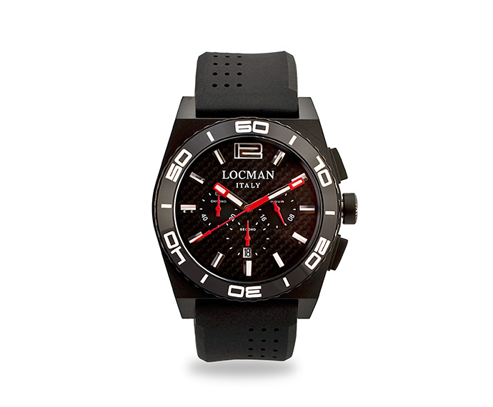 LOCMAN - Stealth Chronograph, Quartz, Steel and Titanium case, Black