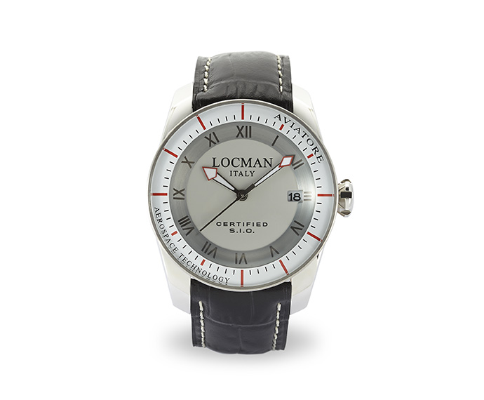 LOCMAN - Aviator Solo Tempo, Quartz, Steel case