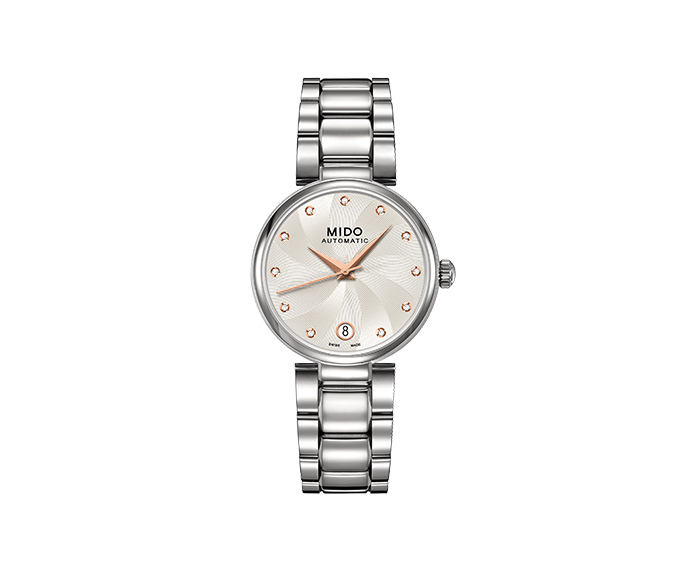 MIDO - Baroncelli II Lady steel indexes diamonds