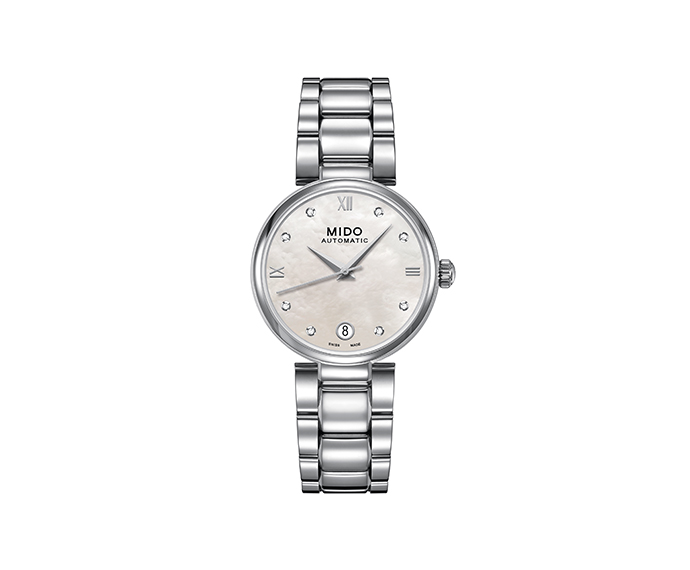 MIDO - Baroncelli II Lady steel indexes diamonds and MOP dial
