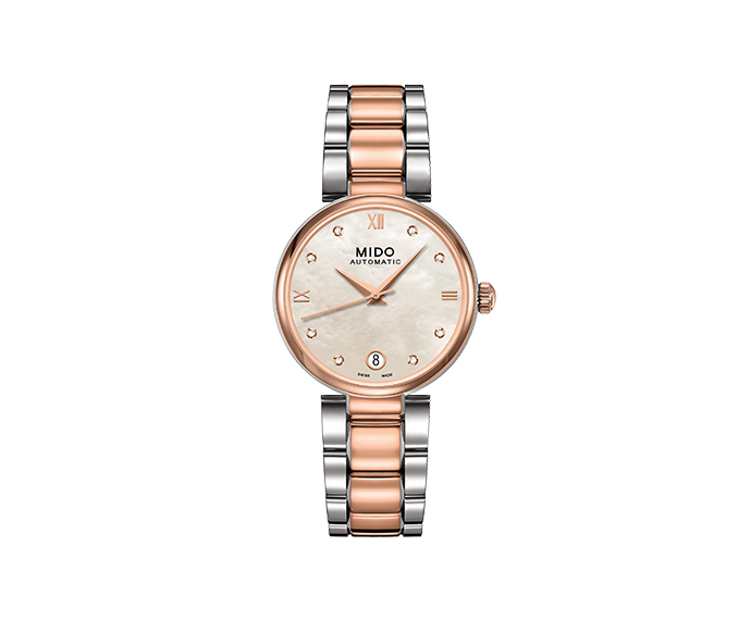 MIDO - Baroncelli II Lady bicolor indexes diamonds and MOP dial