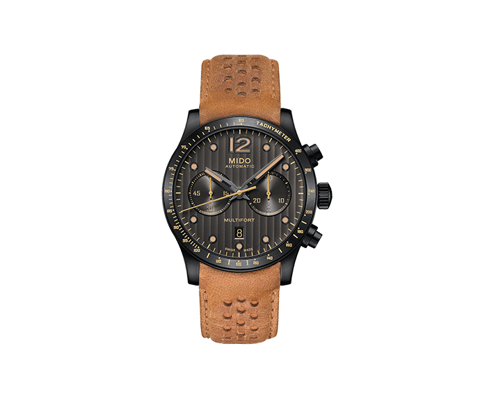 MIDO - Multifort Adventure Chronograph anthracite pvd leather strap