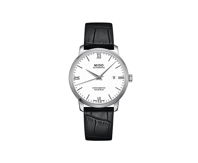 MIDO - Baroncelli Cronometre Si steel leather strap