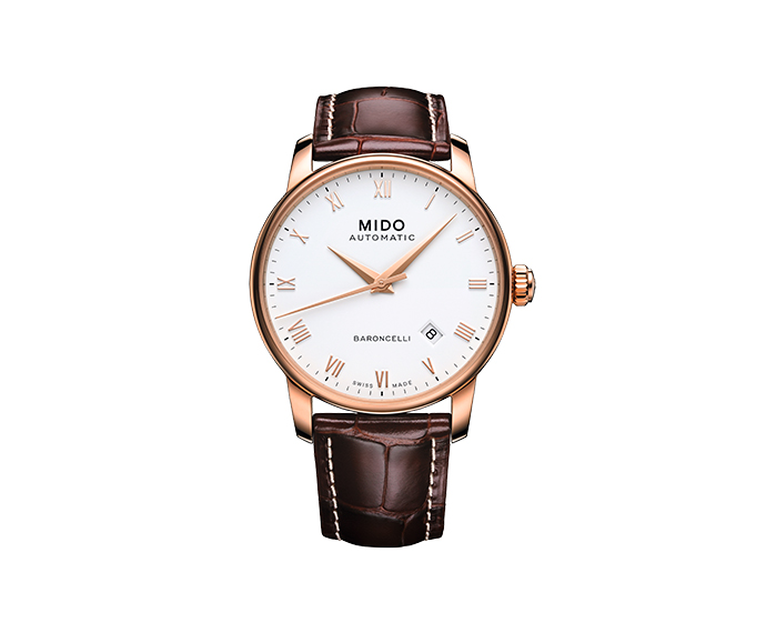 MIDO - Baroncelli Gent pvd blue roman numbers strap