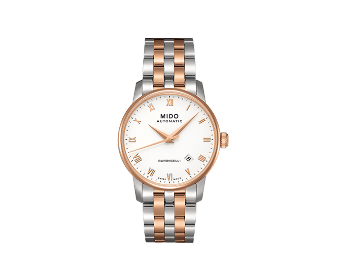 MIDO - Baroncelli Gent bicolor roman numbers strap