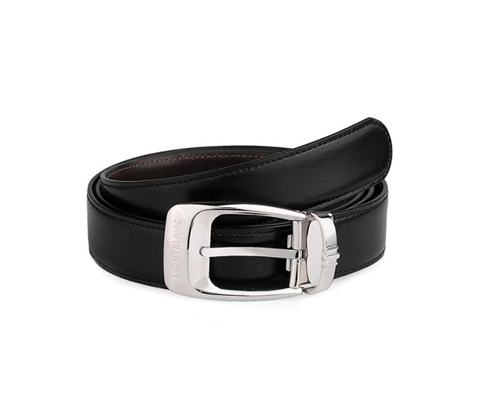 Montblanc - Black/Brown Reversible Business Cut-To-Size Belt