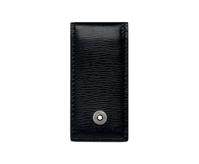 MONTBLANC - Black Leather Money Clasp