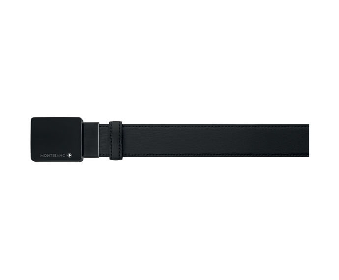 MONTBLANC - Black Leather Belt