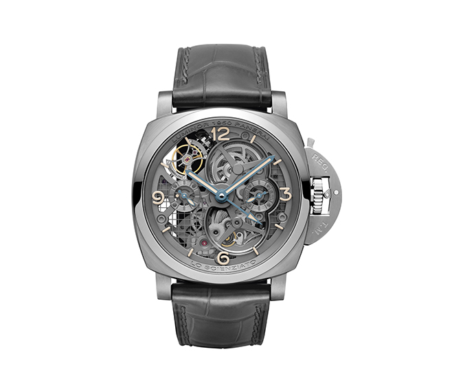 PANERAI - Lo Scienziato - Luminor 1950 Tourbillon GMT Titanium - 47MM