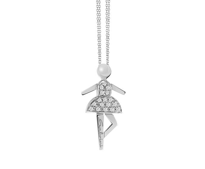 SALVINI - Necklace in white gold and diamonds